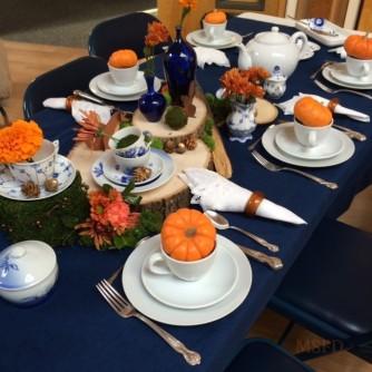 Autumn Danish Porcelain Tea Table 1