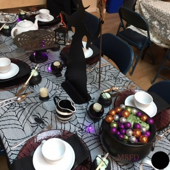 Halloween Tea Table - Witchy 1