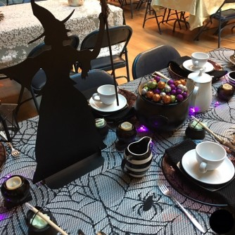 Halloween Tea Table - Witchy 2